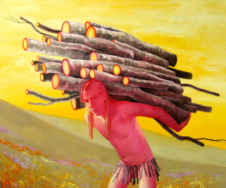 "Robin Williams ""Sons of the Pioneers"" @ PPOW Gallery, NYC: 2011BoywithSticks.jpg"