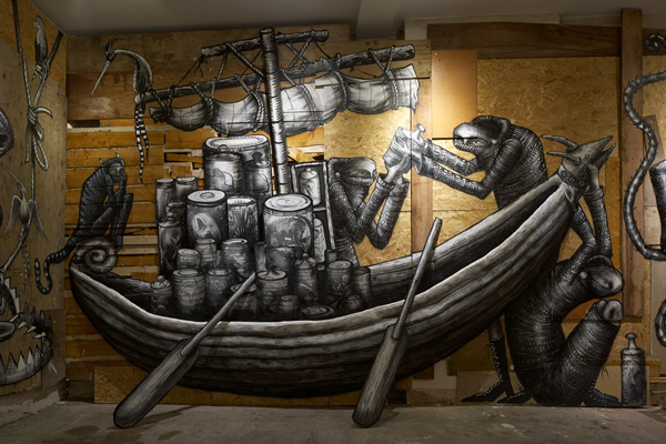 "Photos from Phlegm's ""The Bestiary"" @  Howard Griffin Gallery: jux_phlegm1.jpg"