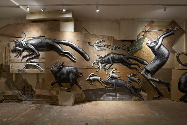"Photos from Phlegm's ""The Bestiary"" @  Howard Griffin Gallery: jux_phlegm11.jpg"
