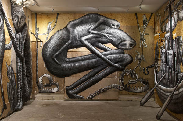 "Photos from Phlegm's ""The Bestiary"" @  Howard Griffin Gallery: jux_phlegm12.jpg"
