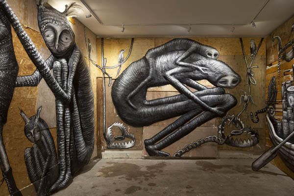 "Photos from Phlegm's ""The Bestiary"" @  Howard Griffin Gallery: jux_phlegm2.jpg"