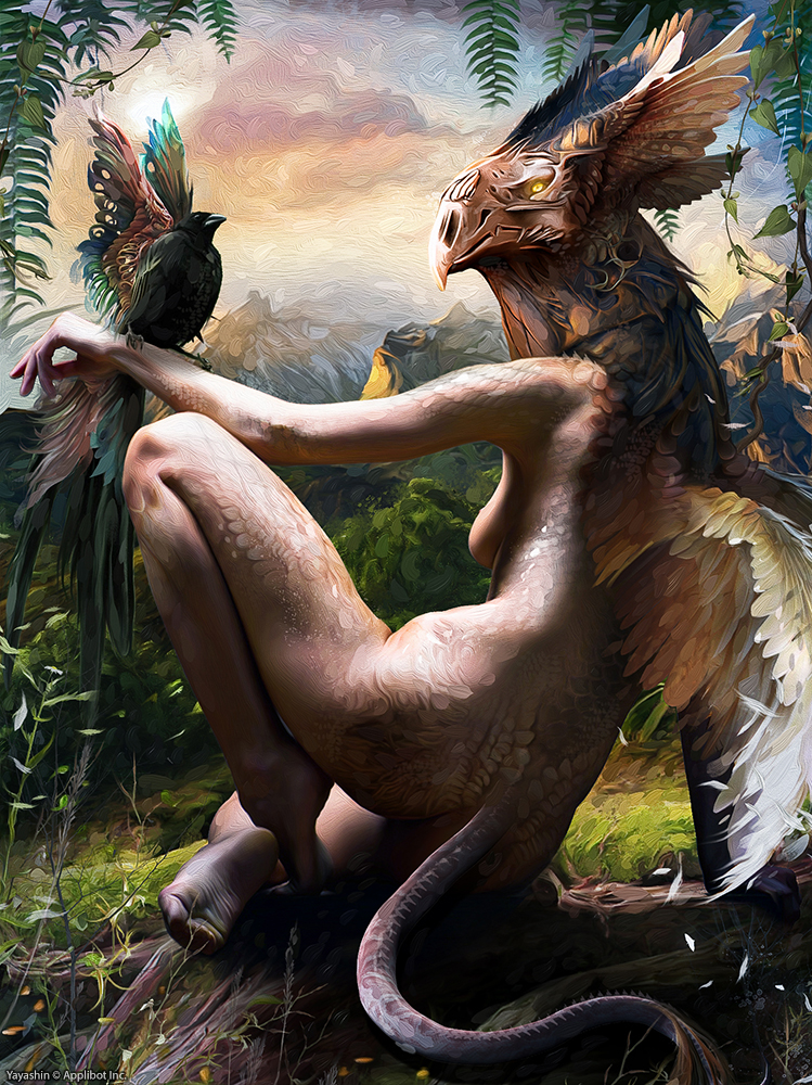 Wagner Bruno's Fantasy Illustrations: bird_god_by_yayashin-d64kz2f.jpg