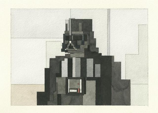 Adam Lister's 8-bit Watercolors: 8bit-darth-vader.jpg