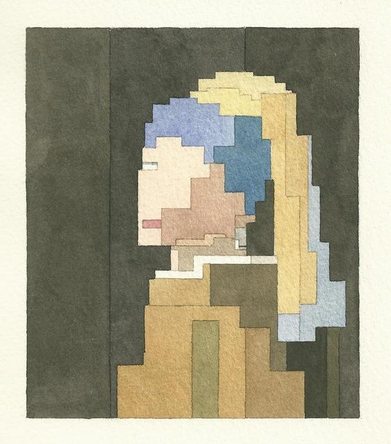 Adam Lister's 8-bit Watercolors: 8bit-girl-with-a-pearl-earring.jpg