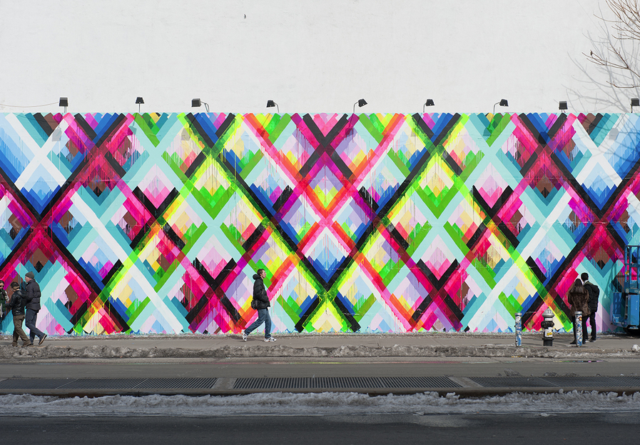 Maya Hayuk's Finished Mural on Houston & Bowery Wall: Screen shot 2014-02-10 at 12.46.08 PM.png