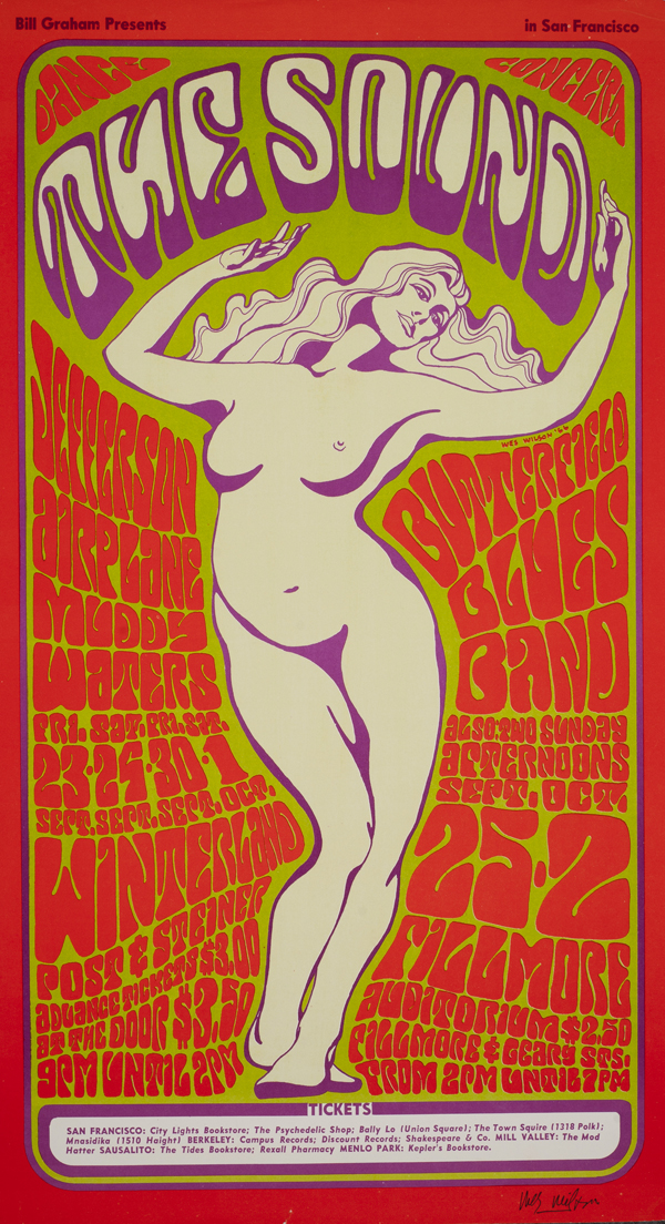 Psychedelic 1960s: The Poster Art of Wes Wilson: BG-29_Wes Wilson_Winterland 1966_Jefferson Airplane, Butterfield Blues Band.jpg