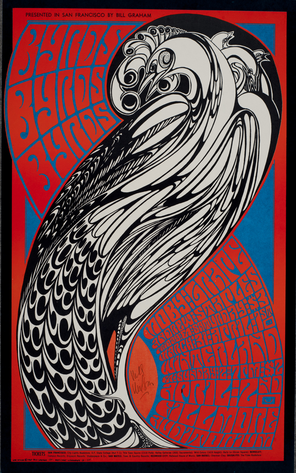 Psychedelic 1960s: The Poster Art of Wes Wilson: BG-57_Wes Wilson_Fillmore Auditorium 1967_Byrds.jpg