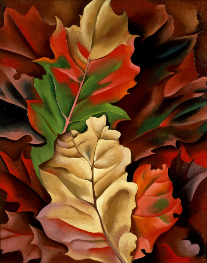 Modern Nature: Georgia O'Keeffe and Lake George @ the De Young Museum: AutumnLeaves.jpg