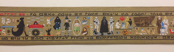 A 30 foot Star Wars Tapestry by Aled Lewis: AledLewisCoruscantTapestry4.jpg