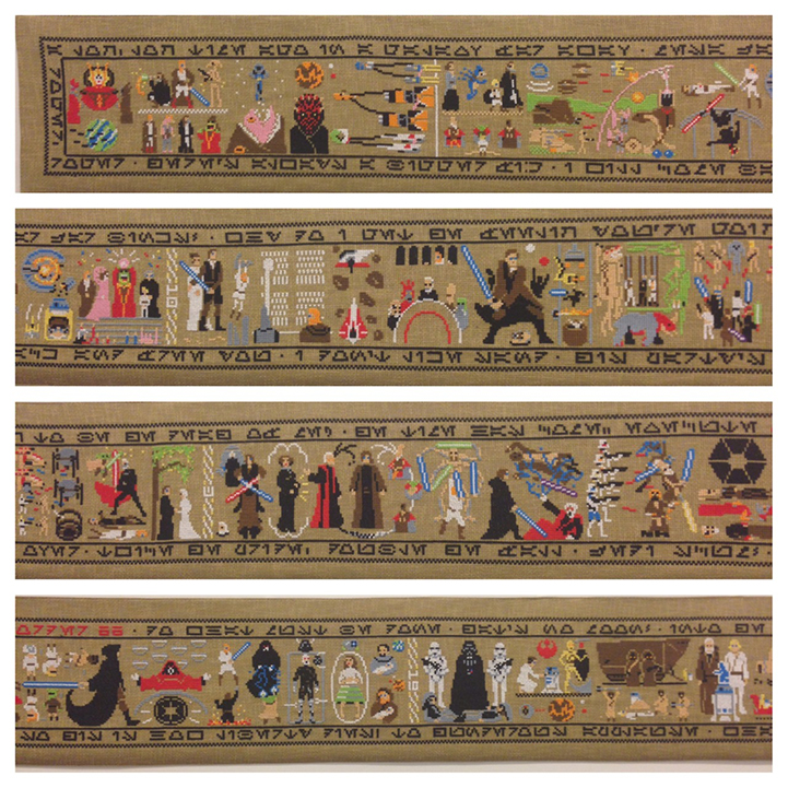 A 30 foot Star Wars Tapestry by Aled Lewis: AledLewisCoruscantTapestry5.jpg