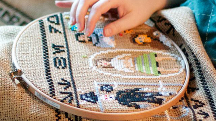 A 30 foot Star Wars Tapestry by Aled Lewis: AledLewisCoruscantTapestry6.jpg