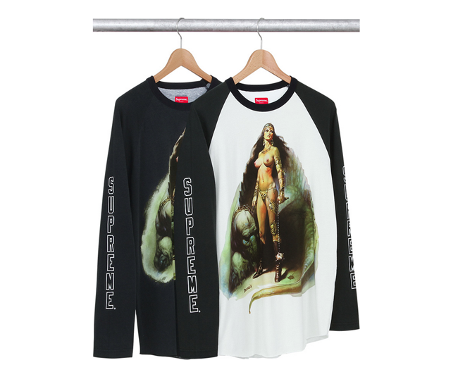 Boris Vallejo x Supreme Spring/Summer 2014 Capsule Collection: 2- boris supreme.png