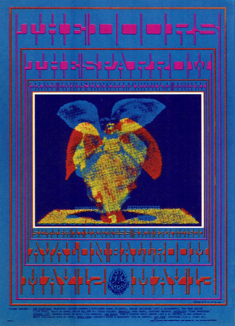Psychedelic 1960s: The Poster Art of Victor Moscoso: 62 May 12-13 1967 Artist Victor Moscoso. The Doors at Avalon Ballroom, SF.jpg