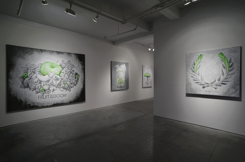 "Ludo ""Fruit of the Doom"" @ Jonathan LeVine Gallery, NYC: ludo_fruitofthedoom_feb2014levineNY_2.jpg"
