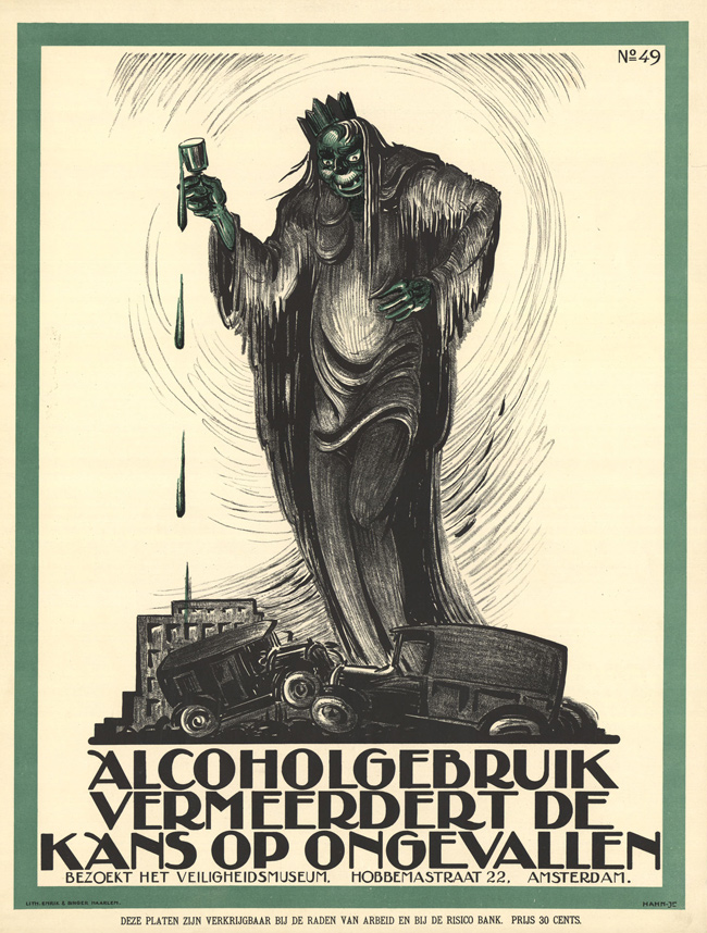 Vintage Dutch Safety Posters: 01-1926-Hahn--Albert-alcohol-increases-risk-of-accidents.jpg
