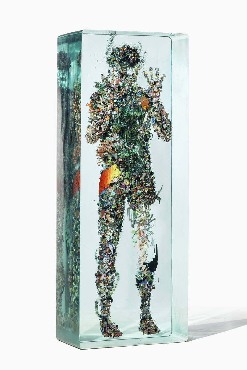"Dustin Yellin "",000, Two Parachutes and a Crab's Suit"" @ Richard Heller Gallery, LA: Dustin_Yellin_Psychogeography_no43__2014_2234_412.jpg"