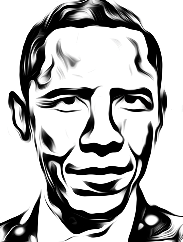 Celebrity Illustrations from Jawaan Burge: 4_barackObama.jpg
