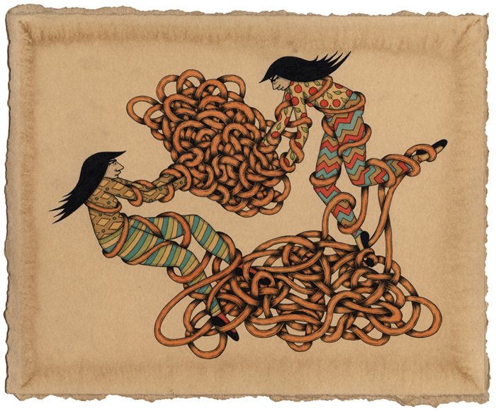 "Preview: Mel Kadel ""Tied Up"" @ Merry Karnowsky Gallery, LA: FRIENDSHIP_BRACELET.jpg"