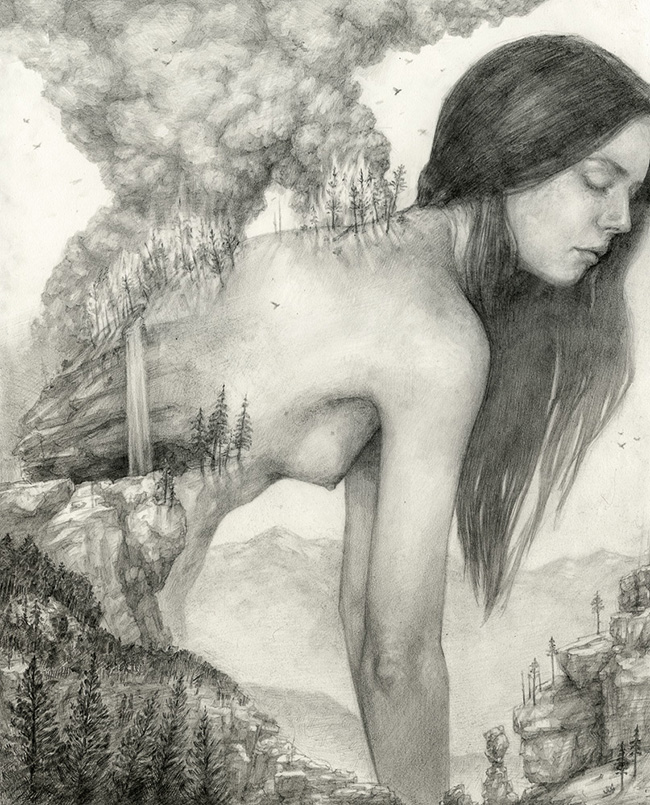 T. Dylan Moore's Graphite Works: forest_scorched.jpg