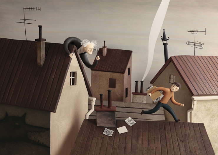 Clay Illustrations by Irma Gruenholz: rooftops.jpg