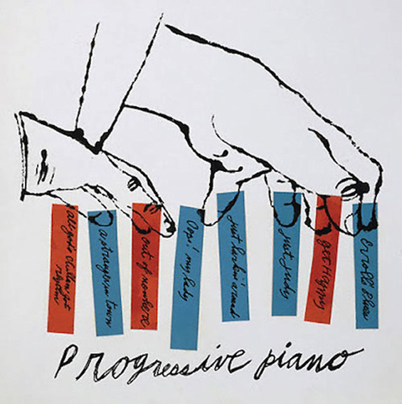Andy Warhol: Early Record Covers: Progressive-Piano.jpg