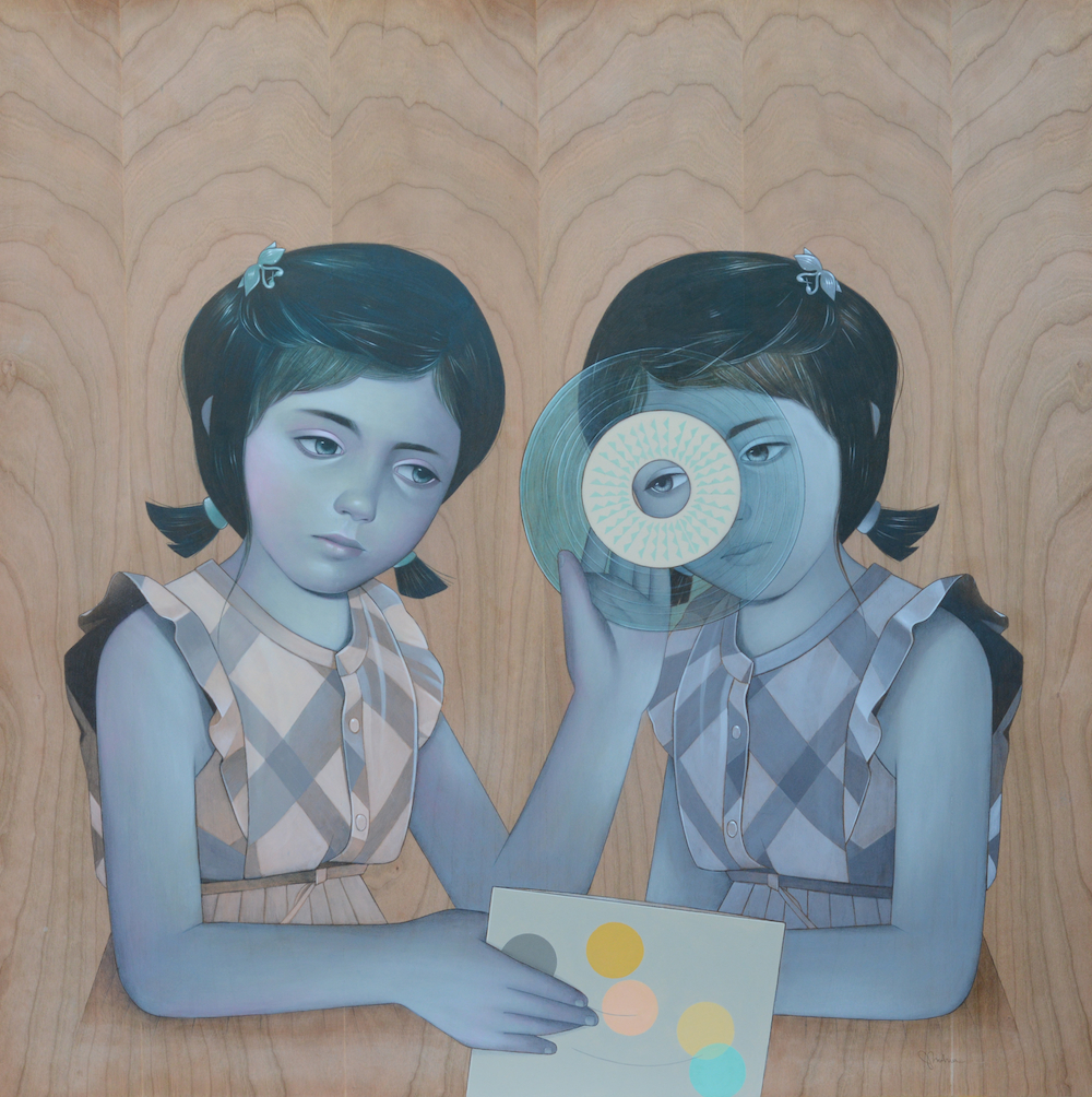 Paintings by Sean Mahan: Record-Girls-sm.jpg