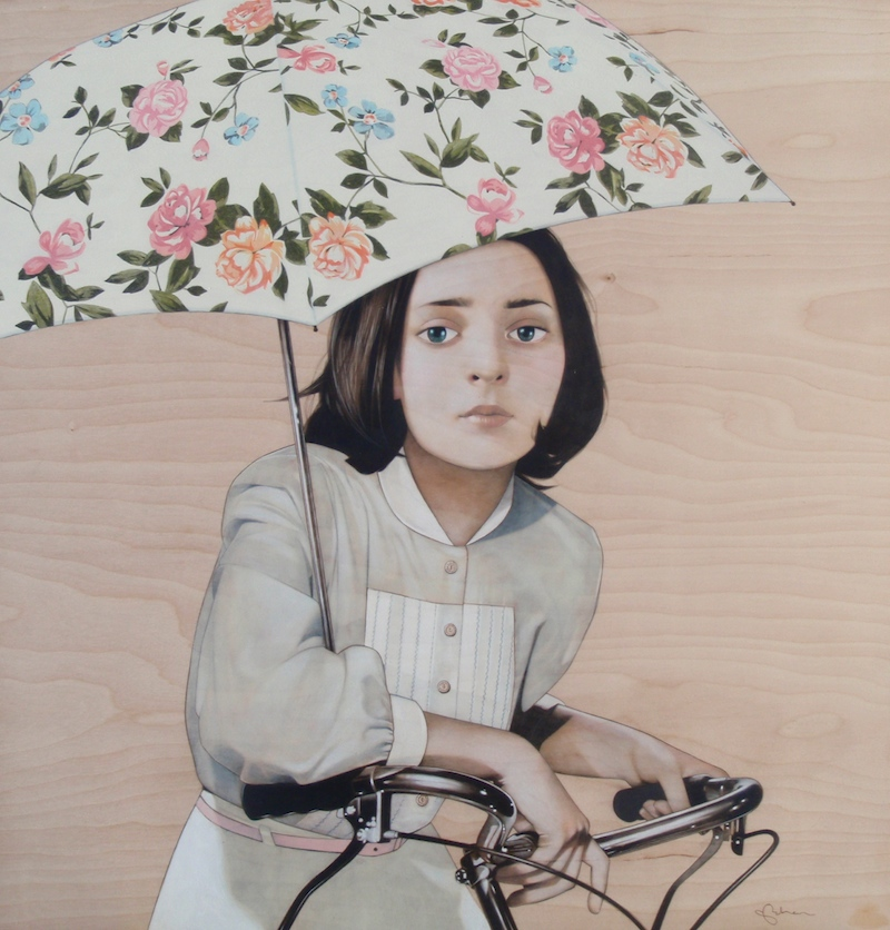 Paintings by Sean Mahan: girl-and-bicycle-800.jpg