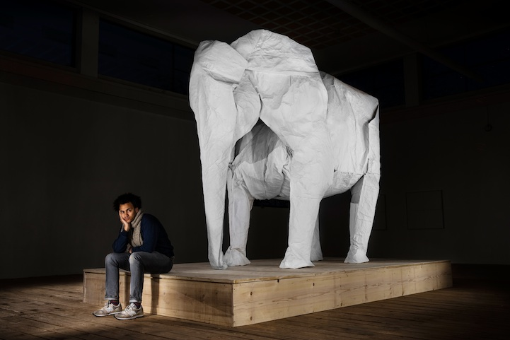 One Sheet of Paper, One Large Elephant: mabonaorigamielephant01.jpg