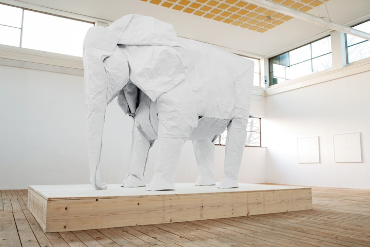 One Sheet of Paper, One Large Elephant: mabonaorigamielephant03.jpg