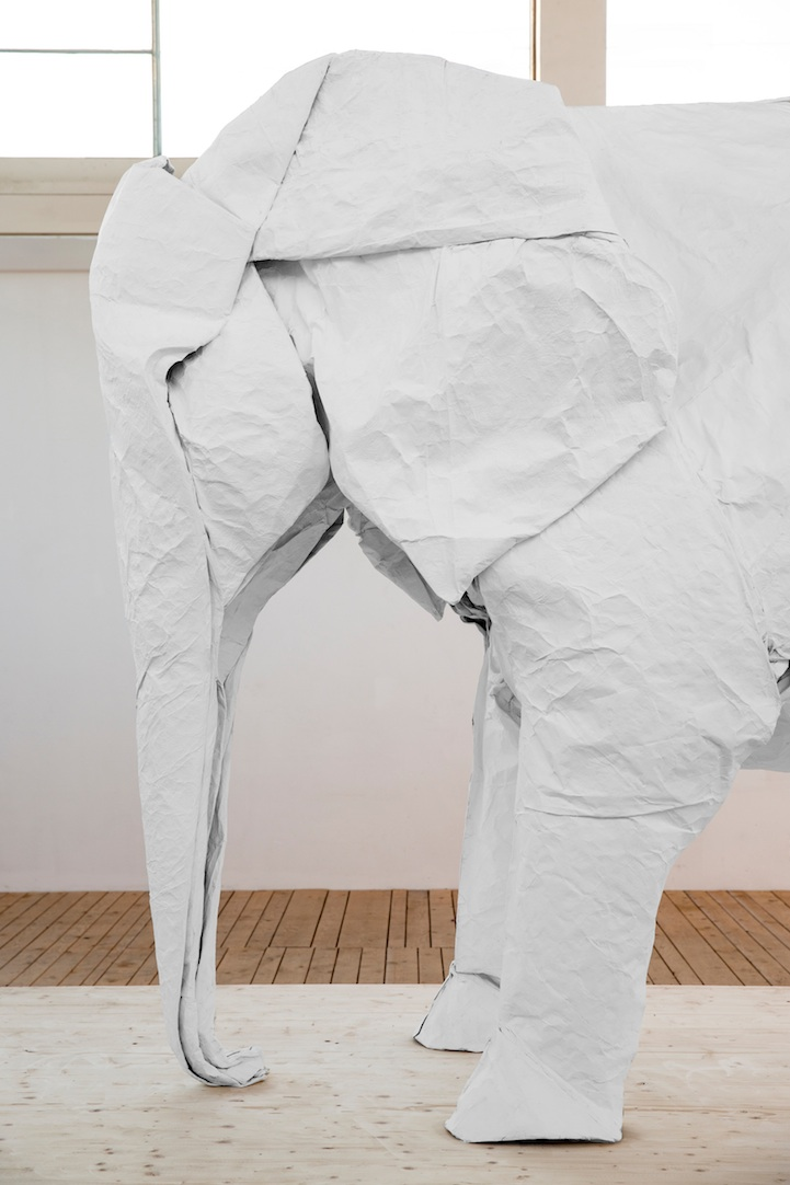One Sheet of Paper, One Large Elephant: mabonaorigamielephant04.jpg