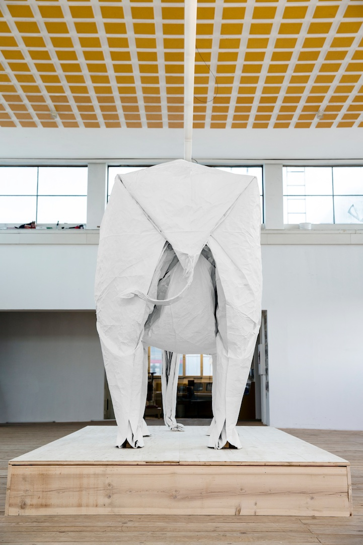 One Sheet of Paper, One Large Elephant: mabonaorigamielephant07.jpg