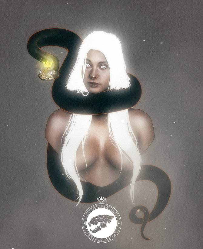 Mystical Babes by Andre De Freitas: Snake eyes watching you_ADF_web_33.jpg