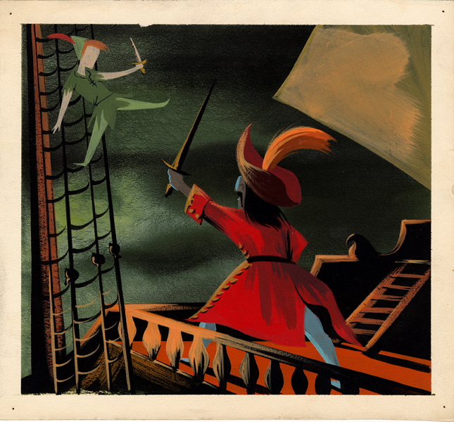"""MAGIC, COLOR, FLAIR: the world of Mary Blair"" @ Walt Disney Family Museum, SF: 1.WDFM_MaryBlair_PeterPan and Capitan Hook.jpg"