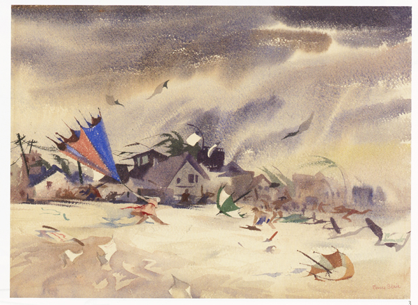"""MAGIC, COLOR, FLAIR: the world of Mary Blair"" @ Walt Disney Family Museum, SF: 18_WDFM_Blair_Stormy Beach.jpg"