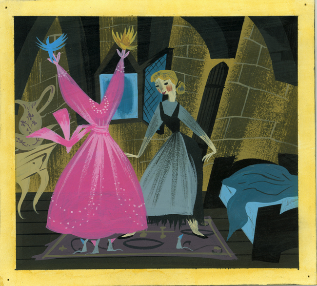"""MAGIC, COLOR, FLAIR: the world of Mary Blair"" @ Walt Disney Family Museum, SF: 5.WDFM_Blair_Cinderella_birds.jpg"