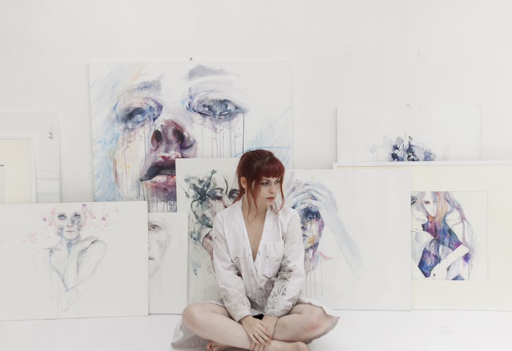 New Watercolors by Agnes Cecile: bc7c213cedb57486e1d65faee81b824a.jpg