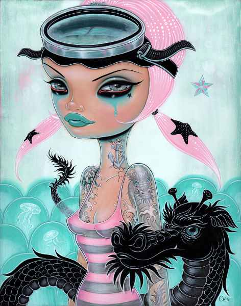 Caia Koopman's Pop Surreal Pin-Ups: DivingBuddy.jpg