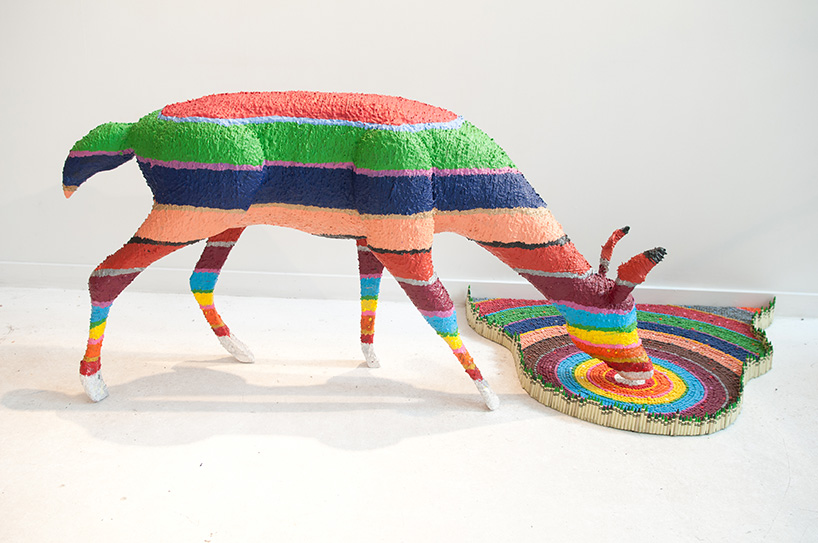 Have Crayons, Will Build: Herb Williams @ Oz, Nashville: herb-williams-crayon-sculptures-designboom-03.jpg
