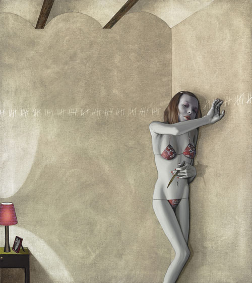 Gino Rubert's Surreal Sensuality: pain-in-the-wall.73x65.jpg