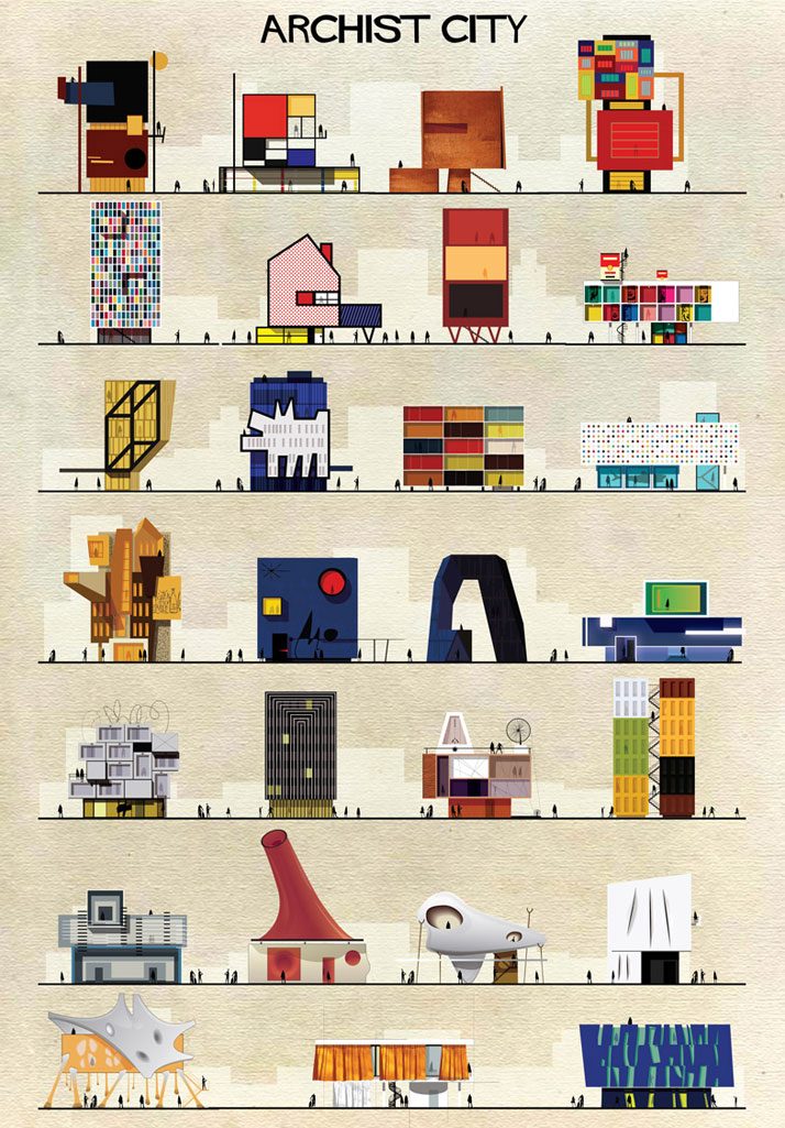 Buildings Inspired by Famous Works of Art: 1-Federico-Babina-Archist-Series-yatzer.jpg