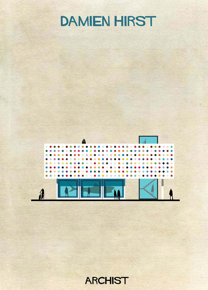 Buildings Inspired by Famous Works of Art: 12-Federico-Babina-Archist-Series-yatzer.jpg
