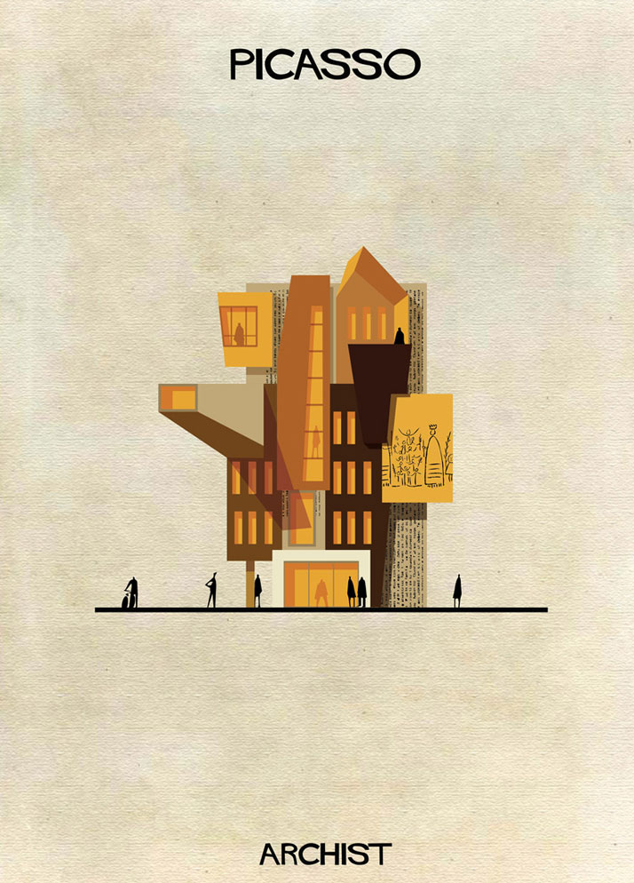 Buildings Inspired by Famous Works of Art: 13-Federico-Babina-Archist-Series-yatzer.jpg