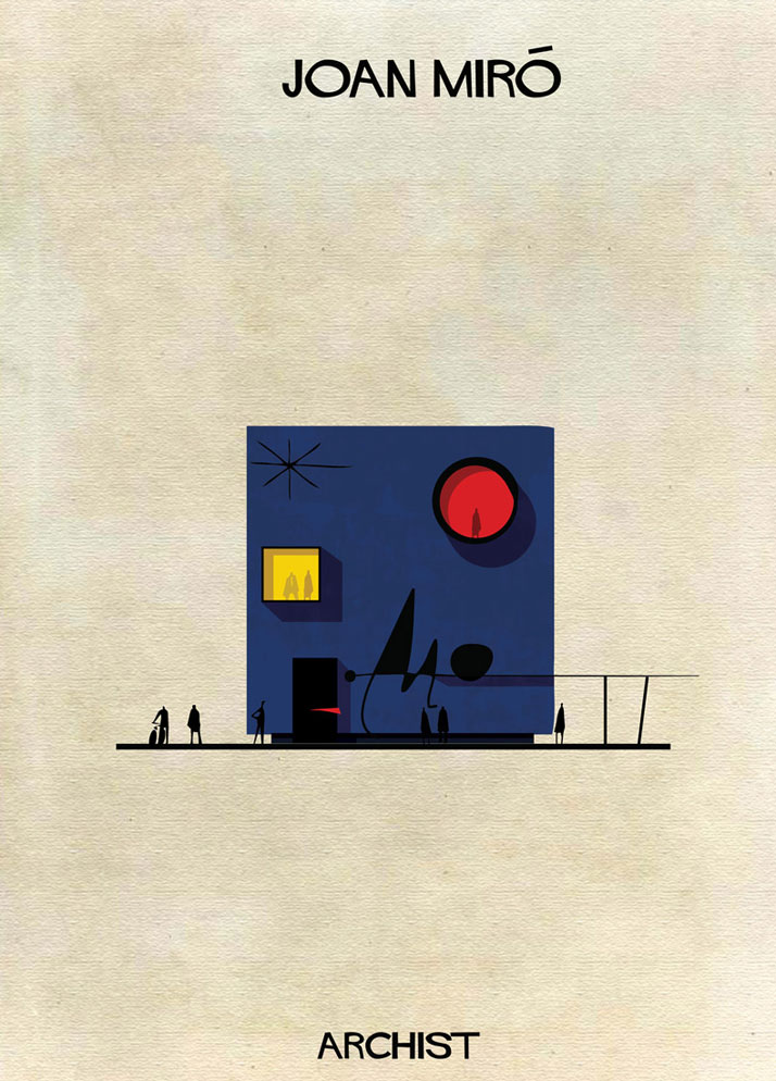 Buildings Inspired by Famous Works of Art: 14-Federico-Babina-Archist-Series-yatzer.jpg