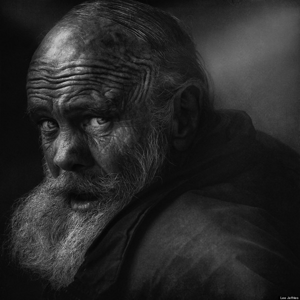 Striking portraits of homeless women and men by Lee Jeffries: juxtapoz_Lee_Jeffries11.jpg