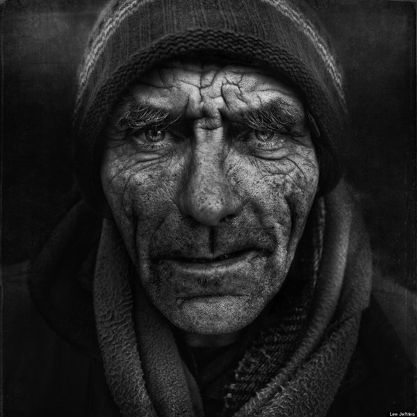 Striking portraits of homeless women and men by Lee Jeffries: juxtapoz_Lee_Jeffries13.jpg