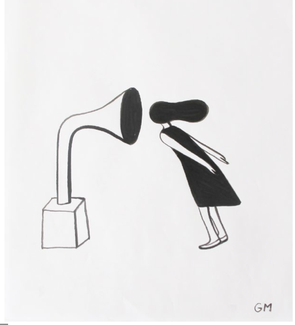 "Geoff McFetridge Drawings from ""MEDITALLUCINATION"" @ V1 Gallery, Copenhagen: Screen shot 2014-03-20 at 11.16.10 AM.png"