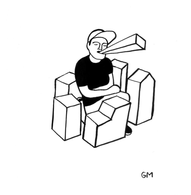 "Geoff McFetridge Drawings from ""MEDITALLUCINATION"" @ V1 Gallery, Copenhagen: Screen shot 2014-03-20 at 11.16.17 AM.png"