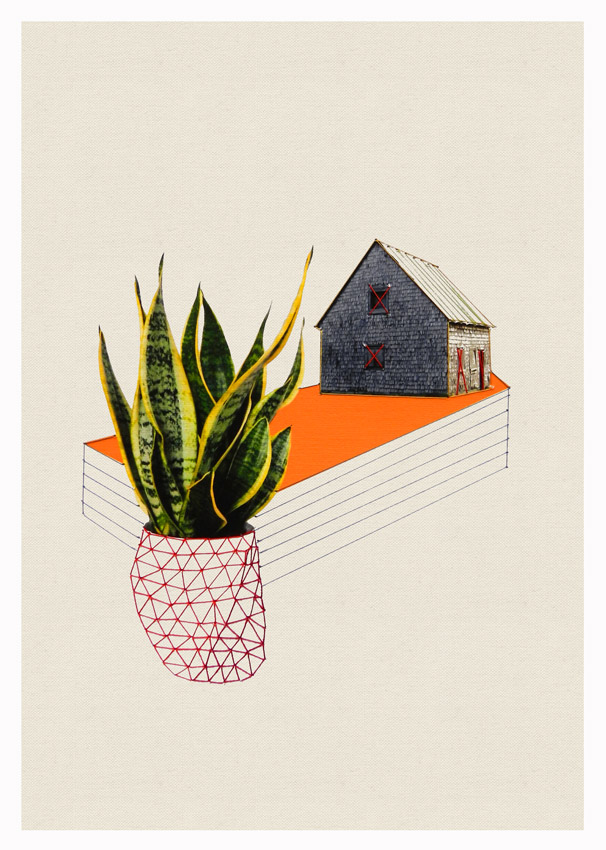 Thread and Paper Works from Happy Red Fish: Happy-Red-Fish_Houses-Plants_01.jpg