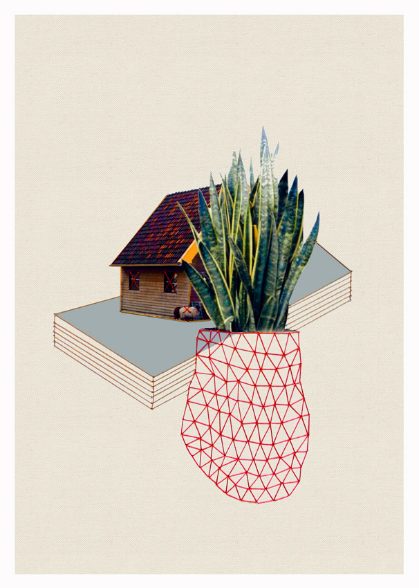 Thread and Paper Works from Happy Red Fish: Happy-Red-Fish_Houses-Plants_02.jpg