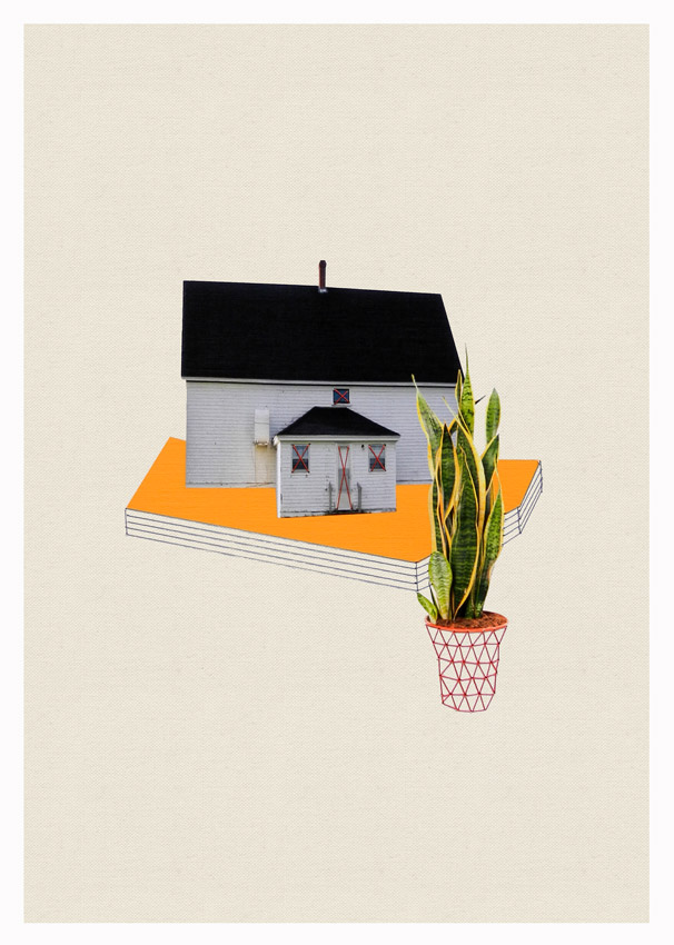 Thread and Paper Works from Happy Red Fish: Happy-Red-Fish_Houses-Plants_03.jpg